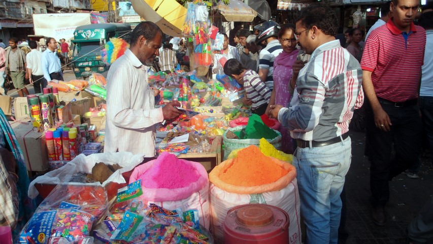 Selling colors for upcoming Holi festival