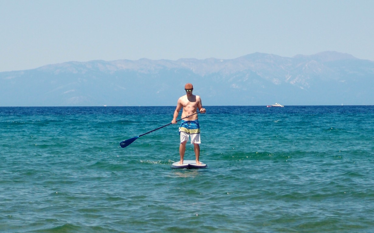Stand Up Paddling at the Baldwin Beach