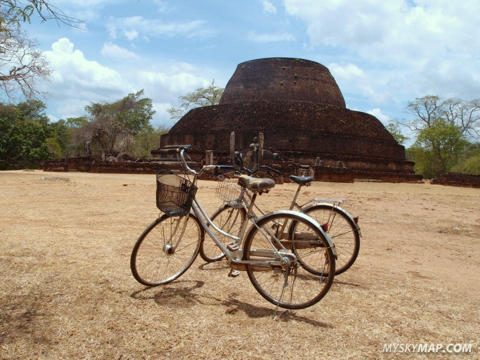 Biking between ruins
