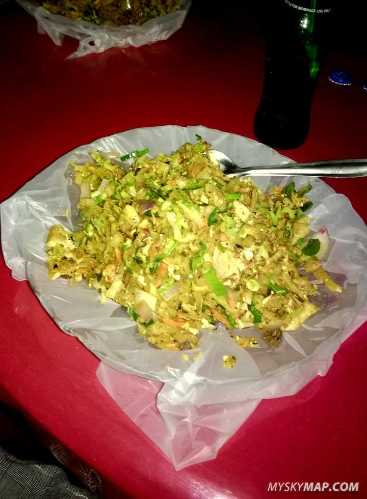 Chicken kothu - typical, delicious street food