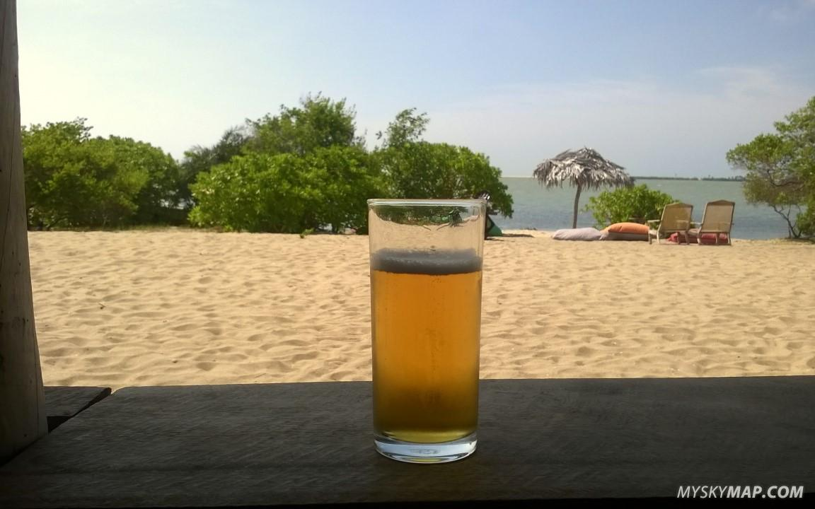 Lion beer at the beach