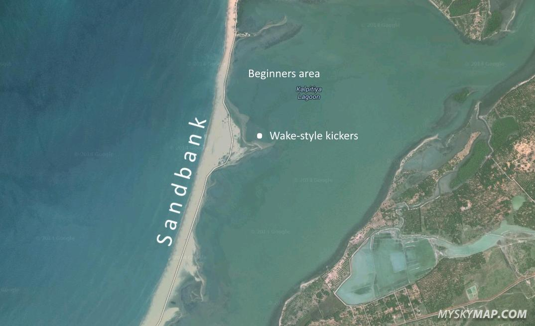 Kalpitiya lagoon - detailed kite map