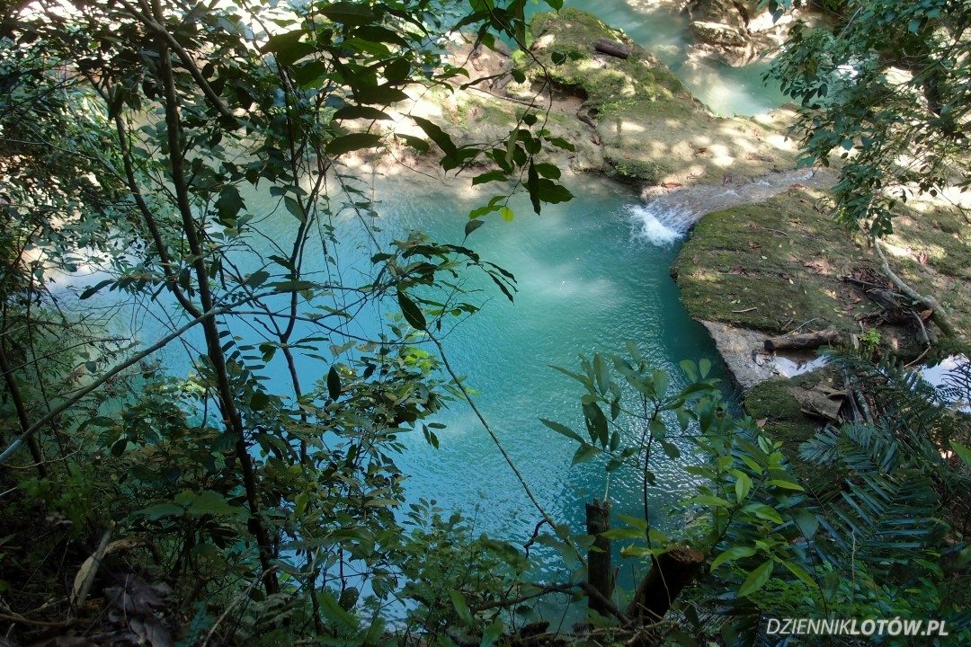 Blue hole - view from the highest jumping point