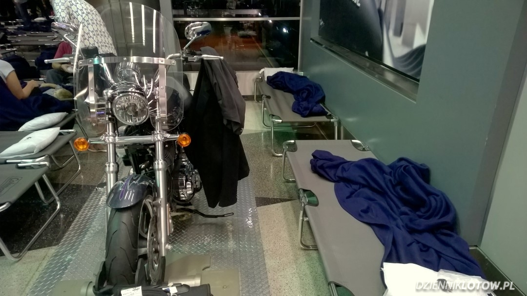 Private spot with a Harley-Davidson coat hanger
