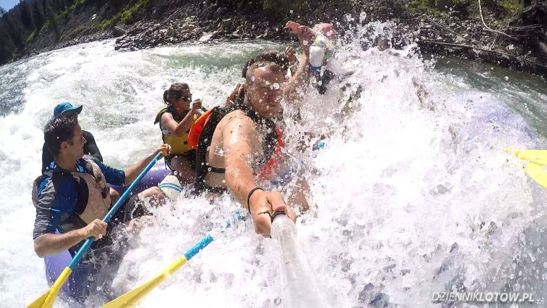 White water rafting on the Snake River